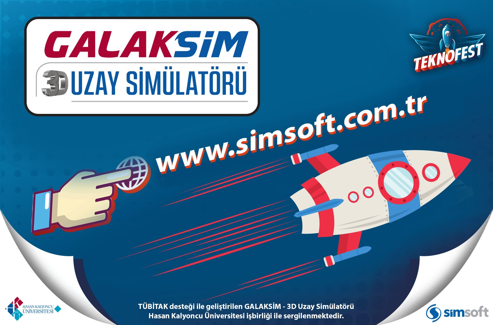 GALAKSIM-3D Space Simulator exhibited at Teknofest İstanbul