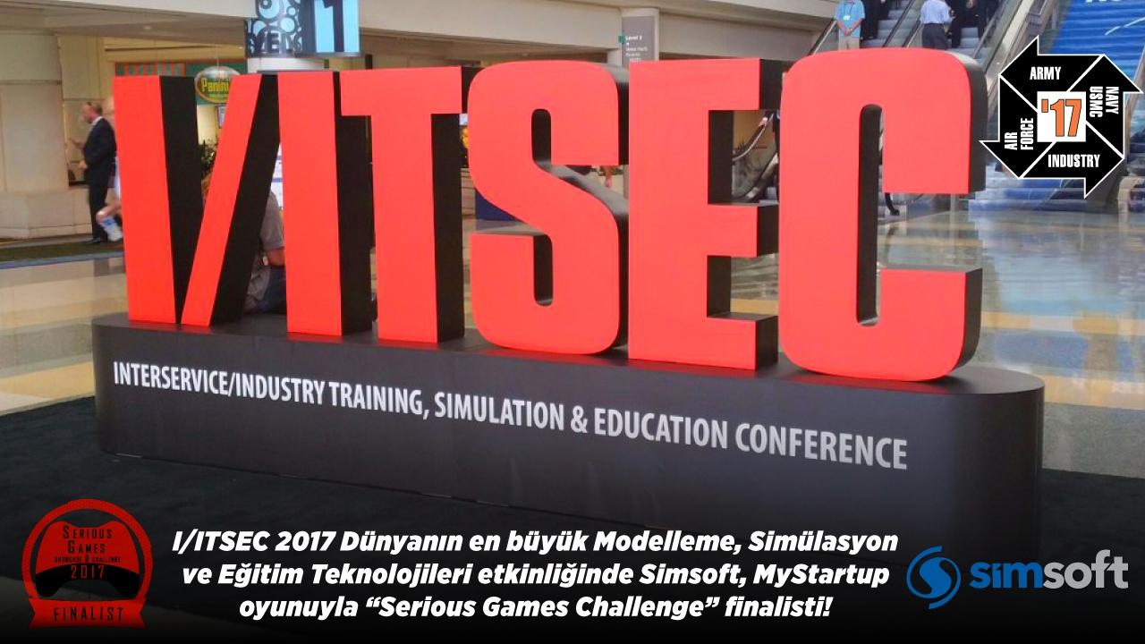 "Simsoft, MyStartup oyunuyla I/ITSEC 2017'de ""Serious Games Challenge"" finalisti!"