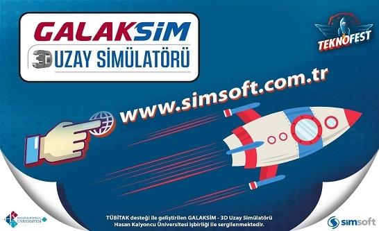 GALAKSİM- 3D Uzay Simülatörü Teknofest İstanbul'da Sergilendi.