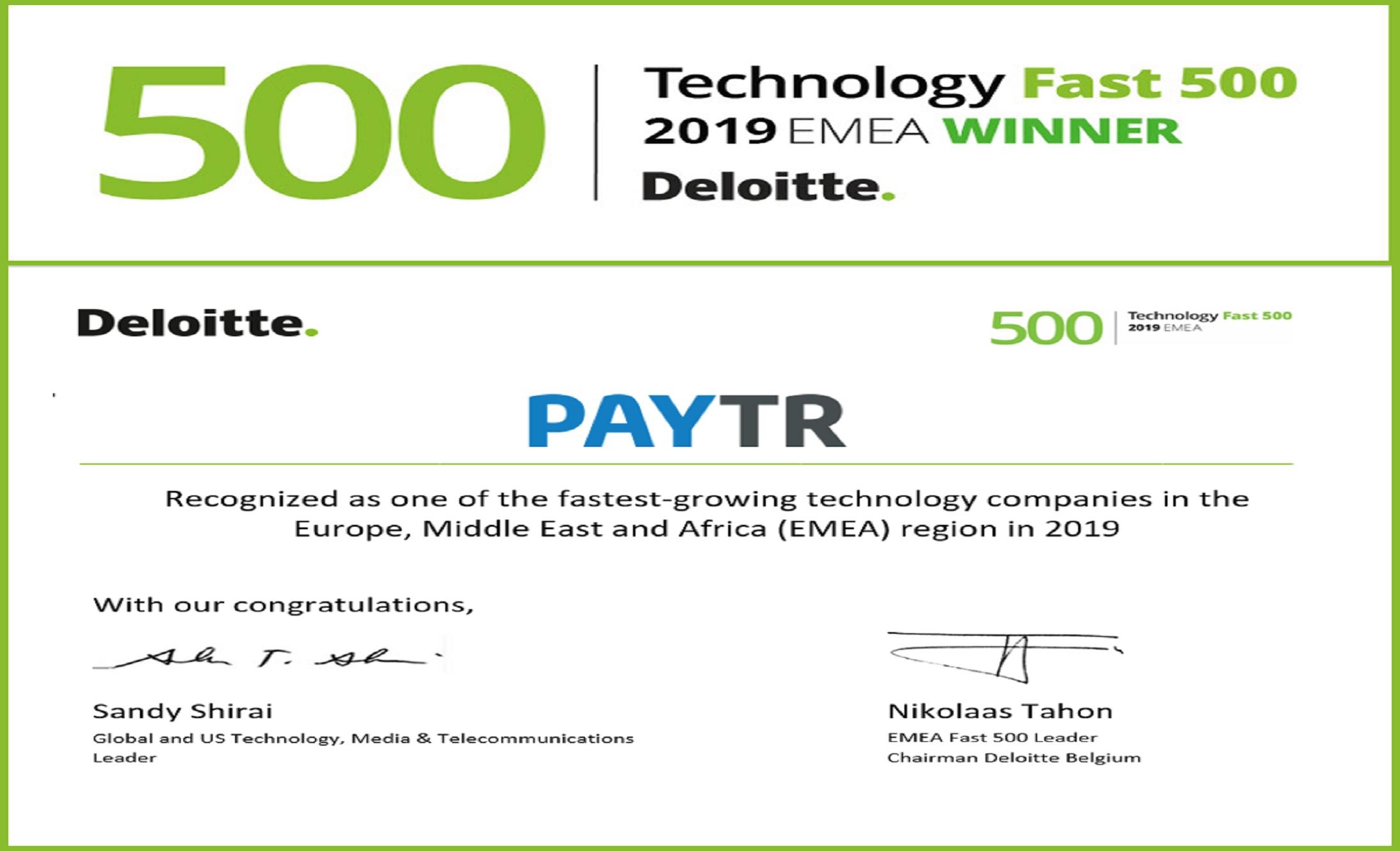 Simsoft, Bir Kez Daha Deloitte Technology Fast 500 EMEA Listesinde!
